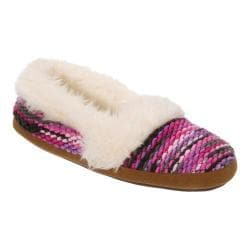 Women's Dearfoams Chunky Fun Knit Espadrille Slipper Pink