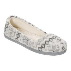 Women's Dearfoams Fairisle Asymmetrical Espadrille Slipper Muslin