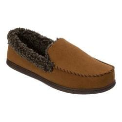 Men's Dearfoams Microsuede Moccasin Clog Slipper Chestnut