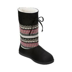 Women's Dearfoams Mixed Material EVA Boot Crossover Black