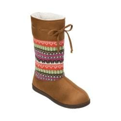 Women's Dearfoams Mixed Material EVA Boot Crossover Chestnut