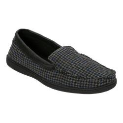 Men's Dearfoams Mixed Material Moccasin with Meva Insole Black Multi
