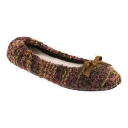 Women's Dearfoams Multi Fabrication Ballerina Slipper Brown Multi