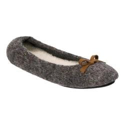 Women's Dearfoams Multi Fabrication Ballerina Slipper Dark Heather Grey