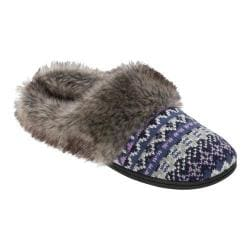 Women's Dearfoams Multi Fabrication Clog Slipper Blue Multi