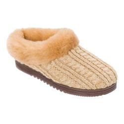 Women's Dearfoams Novelty Knit Clog Slipper Iced Coffee