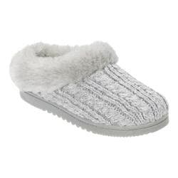 Women's Dearfoams Novelty Knit Clog Slipper Light Heather Grey