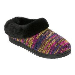 Women's Dearfoams Novelty Knit Clog Slipper Purple Multi