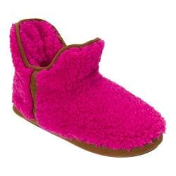 Women's Dearfoams Short Pile Boot Slipper Pink Pinata