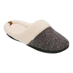 Women's Dearfoams Sparkle Tweed Knit Clog Slipper Dark Heather Grey