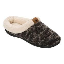 Women's Dearfoams Textured Knit Clog Slipper Black Multi