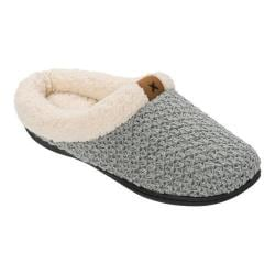 Women's Dearfoams Textured Knit Clog Slipper Light Heather Grey