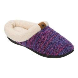 Women's Dearfoams Textured Knit Clog Slipper Purple