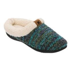 Women's Dearfoams Textured Knit Clog Slipper Teal