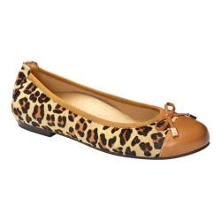 Women's Vionic with Orthaheel Technology Spark Minna Ballet Flat Tan Leopard