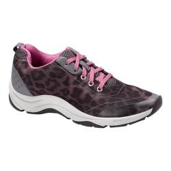 Women's Vionic with Orthaheel Technology Action Tourney Lace Up Grey Leopard