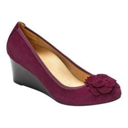 Women's Vionic with Orthaheel Technology Elevated Hayes Wedge Plum