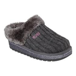 Girls' Skechers BOBS Keepsakes Sweater Softies Clog Charcoal