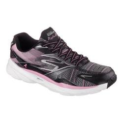 Women's Skechers GOrun Ride 4 Resistance Lace Up Black/Pink