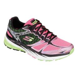 Women's Skechers Relaxed Fit Optimus Training Shoe Black/Hot Pink/Lime