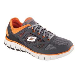 Men's Skechers Relaxed Fit Skech Flex Life Force Training Shoe Charcoal/Orange