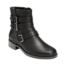 Women's A2 by Aerosoles Long Stride Biker Boot Black Faux Leather