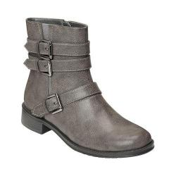 Women's A2 by Aerosoles Long Stride Biker Boot Grey Faux Leather