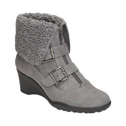 Women's A2 by Aerosoles Music Tor Bootie Grey Fabric/Faux Fur