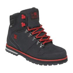 Men's DC Shoes Peary Boot Black/Red Nubuck
