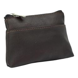 Piel Leather Key/Coin Purse 9062 Chocolate Leather