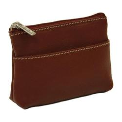 Piel Leather Key/Coin Purse 9062 Red Leather