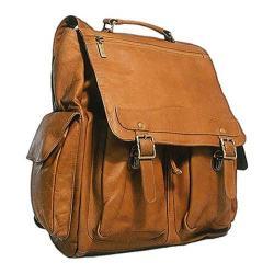 David King Leather 354 Jumbo Back Pack Tan