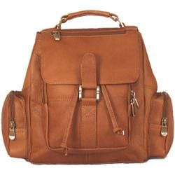 David King Leather 331 Mid Size Top Handle Backpack Tan