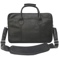 Piel Leather Simple Portfolio 2623 Black Leather