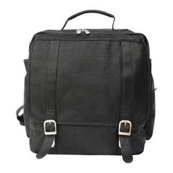 Piel Leather Vertical Backpack 2620 Black Leather