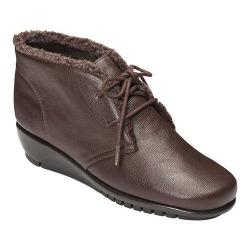Women's A2 by Aerosoles Calendar Bootie Brown Faux Leather/Faux Fur