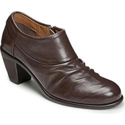 Women's Aerosoles Lock N Key Bootie Dark Brown Leather