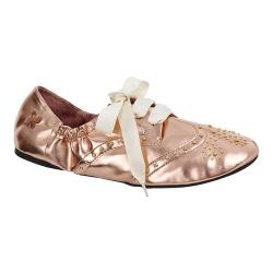 Women's Butterfly Twists Millie Flat Rose Gold Polyurethane
