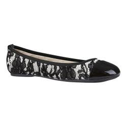 Women's Butterfly Twists Valerie Flat Cream/Black Polyurethane