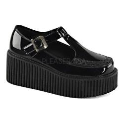 Women's Demonia Creeper 214 Mary Jane Black Patent/Black