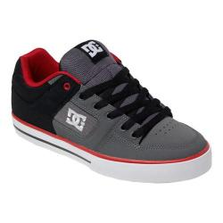 Men's DC Shoes Pure Black/Grey/Red