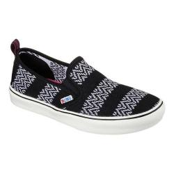Women's Skechers BOBS Menace Lite Fresh Slip On Black/White