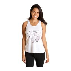 Women's Be Up Loose Racer Tank White