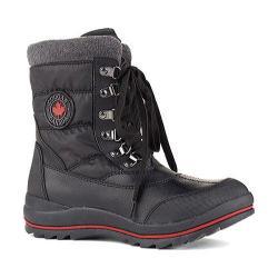 Women's Cougar Chamonix Snow Boot Black Sleek Nylon