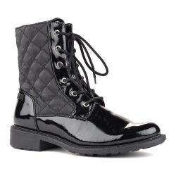 Women's Cougar Jessy Waterproof Ankle Boot Black Grain Patent/Quilted Matador