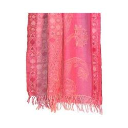 Women's OmSutra Hand Woven Paisely Shawl Pink
