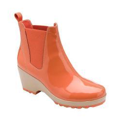 Women's Rockport Lorraine Chelsea Dark Orange Patent PU
