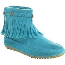 Women's Beston Jolin-01 Ankle Boot Teal Faux Suede