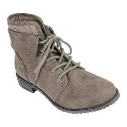 Women's Cliffs by White Mountain Tomiko Cuffed Ankle Boot Stone Suede Smooth Synthetic