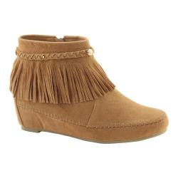 Women's L & C Campus-28 Fringe Boot Tan